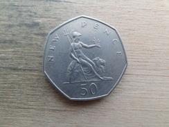 Grande-bretagne  50  New Pence  1969  Km 913 - 1971-… : Monnaies Décimales