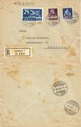 84) SVIZZERA LETTERA RACCOMANDATA VIA AEREA LAUSANNE - ZURICH 29.5.1924 - CHARGE - Posta Aerea