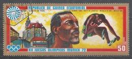 Equatorial Guinea 1972, Scott #7283 R. Beamon (USA), Long Jump, Mexico 1968 (U) - Guinée Equatoriale