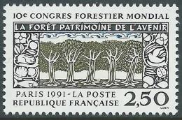 1991 FRANCIA CONGRESSO FORESTALE A PARIGI MNH ** - P33-4 - Francia