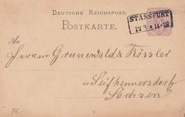 DR Ganzsache R2 Stassfurt 12.3. Gel. Nach Seifhennersdorf - Deutschland