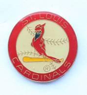 Pin's CARDINALS ST LOUIS - Balle De Base Ball Et Oiseau - F976 - Baseball