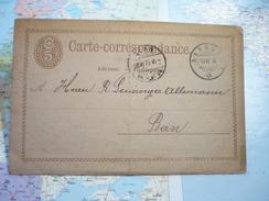 Entier Postal Carte-Correspondance 5 C - Interi Postali