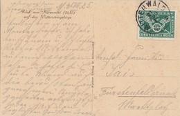 DR AK EF Minr.370 Mittenwald 21.8.25 - Briefe U. Dokumente