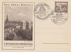 DR Anlaßkarte 3 BM-Austellung Münster EF Minr.634 SST Münster 16.10.36 - Deutschland