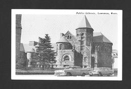LAWRENCE - MASSACHUSETTS - PUBLIC LIBRARY - NICE CARS - Lawrence