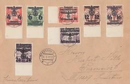 GG Brief Mif Minr.14,18,19,30,31,33, 34 Warschau 16.1.41 - Besetzungen 1938-45