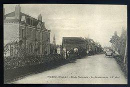 Cpa Du 49 Tiercé -- Route Nationale - La Gendarmerie  JIP87 - Tierce