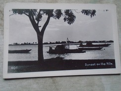 D144859 Egypt Egypte - Sunset On The NILE  - RPPC  Carte Photo - Unclassified