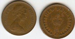 Grande Bretagne Great Britain 1/2 New Penny 1973 KM 914 - 1971-… : Monnaies Décimales