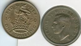 Grande Bretagne Great Britain 1 Shilling 1950 Angleterre KM 876 - I. 1 Shilling