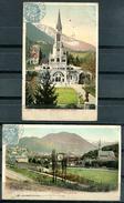 LOURDES - Lot De 2 Cartes Colorisées - Lourdes