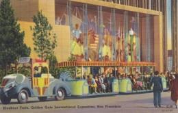 1939-1940 San Francisco Golden Gate Exposition, Elephant Train, C1930s/40 Vintage Linen Postcard - Esposizioni