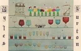 Myles Burton Kingston Pennsylvania Liquor Glassware Bubble Bath Container Martini Zombie Wine Brandy C1950s Vintage Card - Alcohols