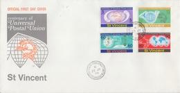 St. VINCENT :1974: Y.357-60 On FDC : U.P.U.,MAIL,POST,CORRESPONDENCE,COMMUNICATION, - St.Vincent (...-1979)