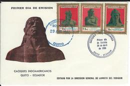 Mi 1821-23 FDC 1980 - Ecuador