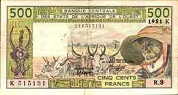 SENEGAL 500  FRANCS De 1981  Pick 706bc - Senegal
