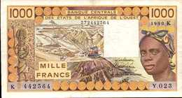 SENEGAL 1000  FRANCS De 1990  Pick 707j