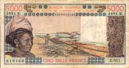 SENEGAL 5000  FRANCS De 1991  Pick 708n - Senegal