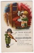 Illustrateurs 9 - A. BERTTIGLIA  -  Le Train Roulait - Enfants Amoureux - Violoniste - Violon - Musique - F.L. Bénech - Bertiglia, A.