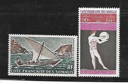 C 72 Côtes Françaises Des Somalis PA N°39 Et 41 N+ - Côte Française Des Somalis (1894-1967)