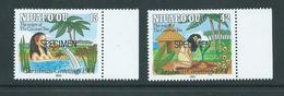 Tonga Niuafo´ou 1991 Christmas Coconut Set Of 2 Specimen Overprint MNH - Tonga (1970-...)