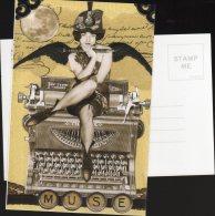 5585 - Calliope Sur Une Machine à écrire ; Dans La Mythologie Grecque : Muse De La Poésie épique Et De L'éloquence - Vertellingen, Fabels & Legenden