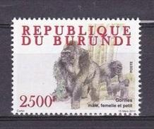 X] 1 Timbre ** 1 Stamp ** Burundi Gorille Gorilla - Gorilles