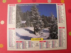 Calendrier Illustré En Carton De 1995. Almanach Des PTT Postes Facteur. Oberthur. Montagne - Calendriers