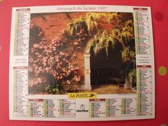 Calendrier Illustré En Carton De 1997. Almanach Des PTT Postes Facteur. Obetrhur. Jardin Bois - Calendriers