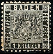 Stamp German States Baden 1862 1kr  Mint Lot4 - Bade