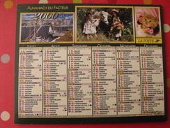 Calendrier Illustré En Carton De 2000. Almanach Des PTT Postes Facteur. Chat Chien Papillon Poney - Calendriers