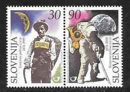 Slovenia: 1999 Universal Postal Union, 125th Anniversary 2v Se Tenant MNH - Slovénie