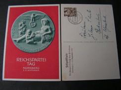Feldpost Reichsparteitag Nürnberg Propa Karte Gelaufen Aus Aus Egeln Bei Magdeburg 1939 - Deutschland