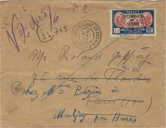 1935- Env. RECC. De WALLIS  Affr. T P N° 60 A  Oblit. Protectorat Français -Wallis - - Wallis Und Futuna