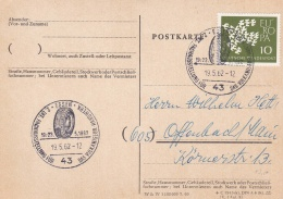 Germany Card P/m Essen 1962 Tyre - Reifen In Postmark (T2-8) - Other (Earth)