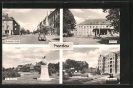 AK Prenzlau, Bahnhof, Brüssower Strasse, Partie Im Stadtpark - Prenzlau