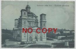 Vicoforte, Mondovì, Cuneo, 15.9.1921, Santuario Della Pace. Trenino In Sosta Davanti Alla Basilica. - Cuneo