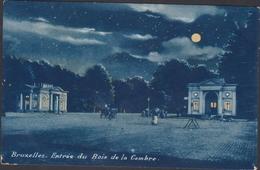 Carte à La Lune - Bruxelles  Entree Du Bois De La Cambre Maanlicht Volle Maan Moonlight View Full Moon - Bruxelles La Nuit