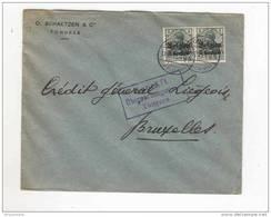 Lettre TP Germania Cachet Allemand à Pont TONGEREN 1915 - Censure TONGEREN. - Entete O. Schaetzen § Co  - GG515 - Guerre 14-18