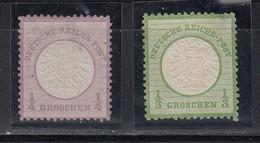 Dt.Reich Grosser Brustschild MiNo. 16 (*) Und 17 (*) Ungebraucht Ohne Gummi Siehe Beschreibung (42.-)