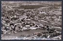5860 - Alte Foto Ansichtskarte - Leer Ostfriesland - Luftbild Luftaufnahme - Gel 1960 - Leer