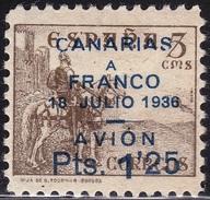 1937 CANARIAS 13 CID HABILITADO MH LUJO SPAIN SPANIEN ESPAGNE SPANJE - Emissioni Nazionaliste