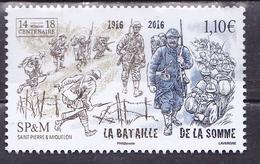 S.P.M.2016 BATAILLE DE LA SOMME MNH - St.Pierre & Miquelon
