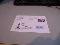 """ESCALE A SAINT PIERRE ET MIQUELON LE 20/07/67 DU GENERAL DE GAULLE A BORD DU CROISEUR ANTI AERIEN  """"COLBERT"""" - Marcophilie (Lettres)"""