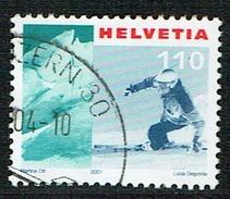TIMBRE 2001 OBLITERE  . Y&TELLIER .Nr :1689. DES TIMBRES SUISSES Nr : 1037 . - Oblitérés