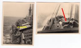 Deux Photos D'un Paquebot Avec Marque De Neutralité, Peut-être Belgie - Boats