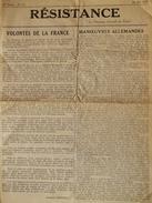 RESISTANCE MAI 1943 NOUVEAU JOURNAL DE PARIS FFI DE GAULLE FRANCE LIBRE ???? - 1939-45