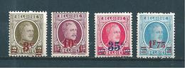 Belgique Timbres De 1927 N°245 A 248  Neufs * - 1922-1927 Houyoux