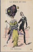 CPA Femme Girl Woman Mode Chapeau Non Circulé Art Nouveau Roberty épingle - Robert